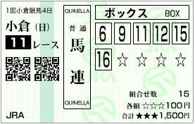 2013 小倉大賞典 馬連