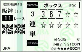 2013 アーリントンC 3連単