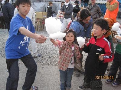 子供 綿菓子