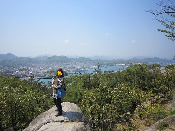 すごく良い天気で四国まで見えます。