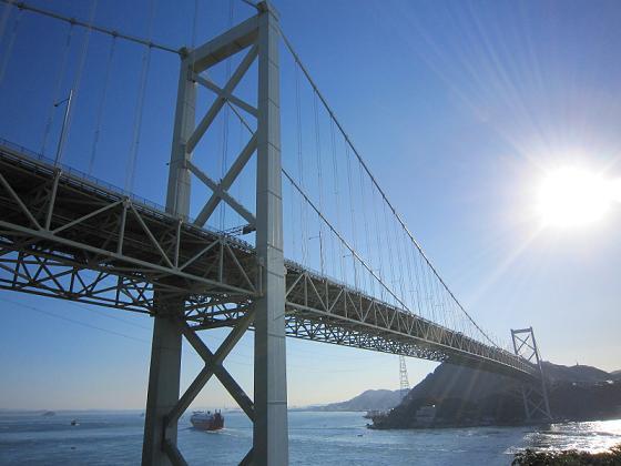 本州側から見た関門橋