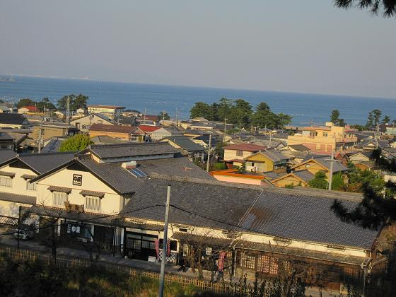 島原の街が見えます