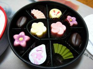 天満屋デパ地下、「月の桂のチョコ」、「月の桂」はバレンタインデー期間限定「ゴンチャロフ」のブランド、4