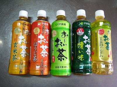伊藤園「おーいお茶」・『緑茶・濃い味・ほうじ茶・玄米茶・玉露の旨み」、