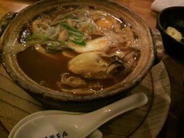 山本屋・味噌煮込みうどん(牡蠣)