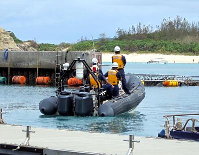 海上保安庁ゴムボート2