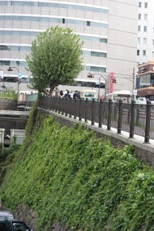 市ヶ谷見附の橋の下の石垣