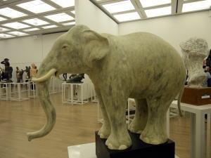 日彫展 「白象」
