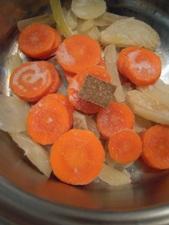 冷凍野菜でスープ4