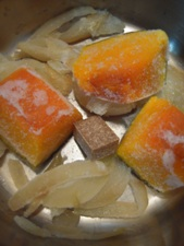 冷凍野菜でスープ5