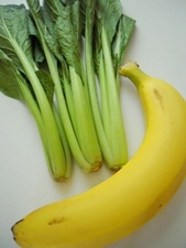 小松菜とバナナのスムージー1
