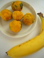 かぼちゃ玉とバナナの美肌ジュース2