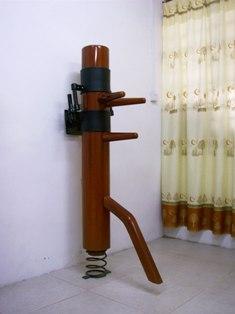 弾弓式壁掛型木人樁