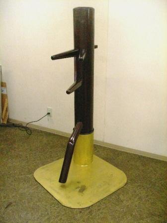 鉄板台座式自立型木人椿