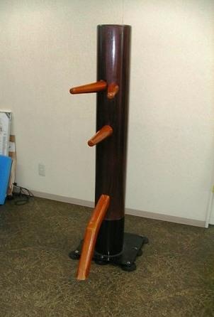 吸盤固定式自立型木人樁