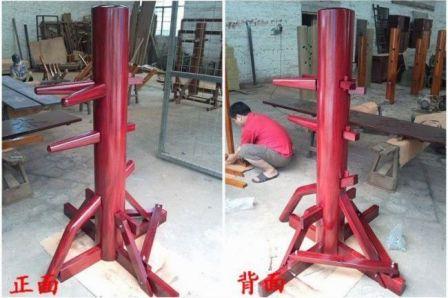 三角架式自立型木人樁