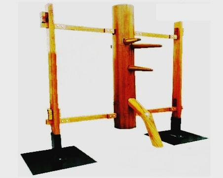 双吸盤連架式自立型木人樁