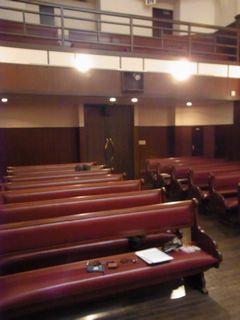 教会の客席