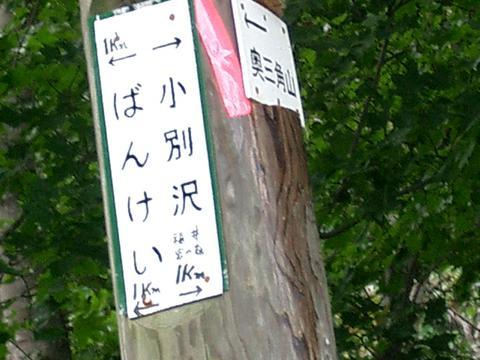 札幌自然歩道(小別沢鉱山付近)④