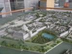 新日本製薬1階にある福岡城復元模型(中心部)