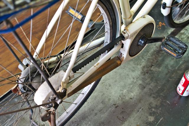 ベルトドライブの自転車