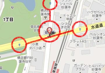 バス停の地図の見方