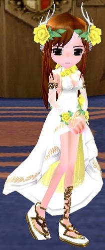 祝祭のドレス 染色 完了 7