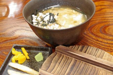 3豆腐茶漬け