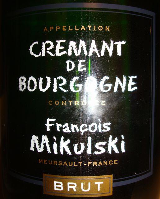 Cremant De Bourgogne Francois Mikulski Brut No1