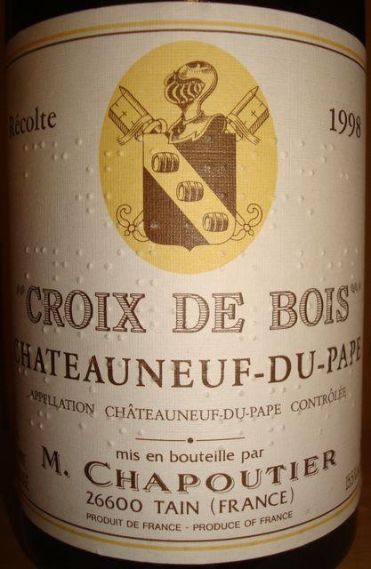 Chateauneuf Du Pape Croix De Bois M Chapoutier 1998