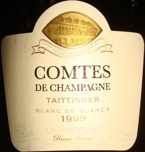 Comtes De Champagne Taittinger Blanc de Blancs 1999