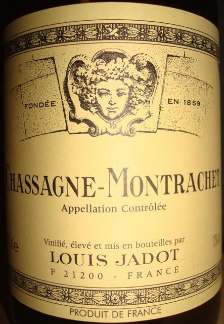 Chassagne Montrachet Louis Jadot 1999