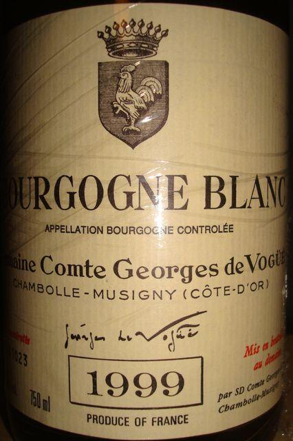 Bourgogne Blanc Domaine Comte Georges de Vogue 1999