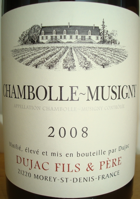 Chambolle Musigny Dujac 2008