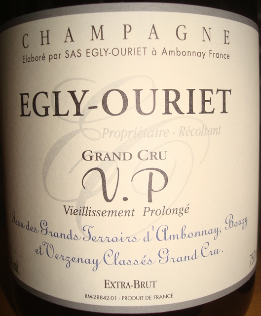 Egly Ouriet Grand Cru Vieillissement Prolonge