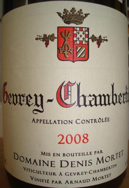 Gevrey Chambertin Domaine Denis Mortet 2008