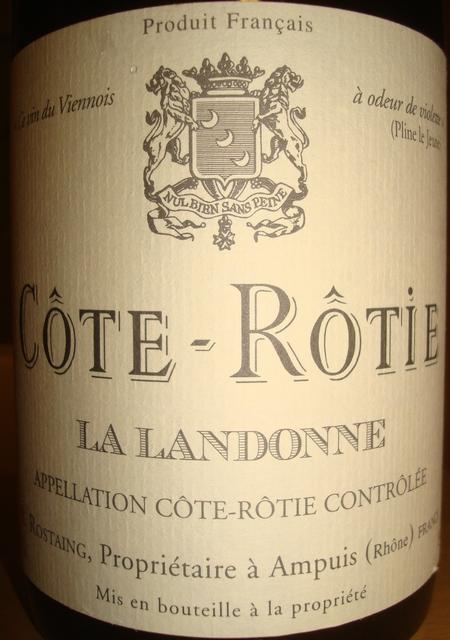 Cote Rotie La Landonne Domaine Rene Rostaing 1996
