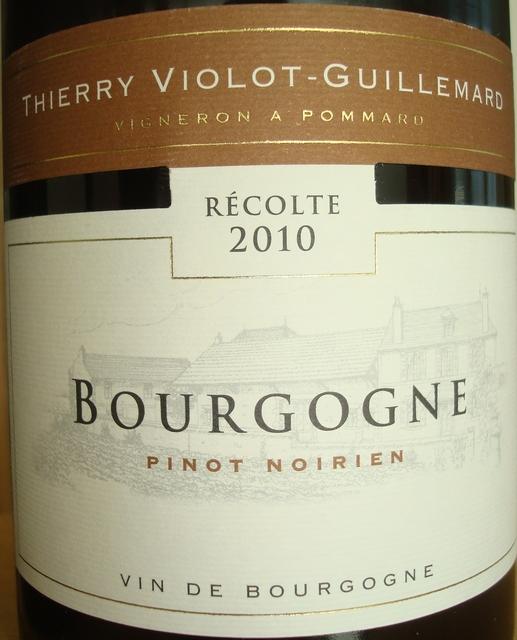 Bourgogne Pinot Noirien Thierry Violot Guillemard 2010