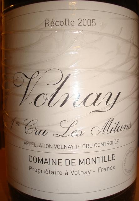 Volnay 1er Cru Les Mitans Domaine De Montille 2005