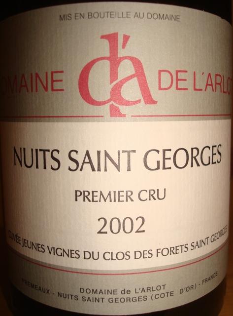 Nuits Saint Georges Primier Cru Clos Des Forets Saint Georges 2002