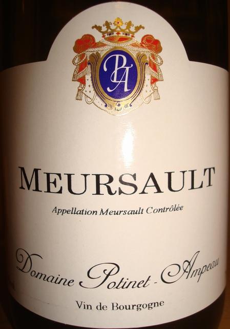 Meursault Domaine Potinet Ampeau 2004