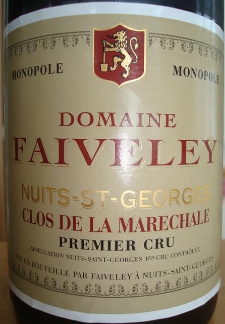 Nuits St Georges Clos De La Marechale Domaine Faiveley 2002