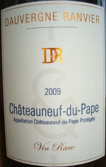 Chateauneuf du Pape Vin Rare Dauvergne Ranvier 2009