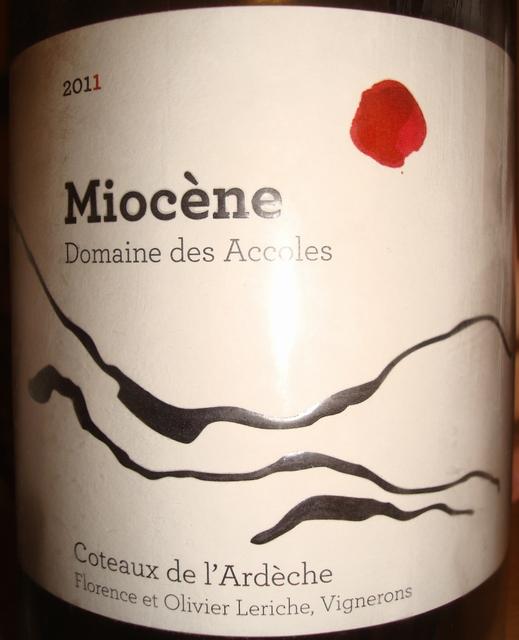 Miocene Domaine des Accoles Coteaux de lArdeche 2011