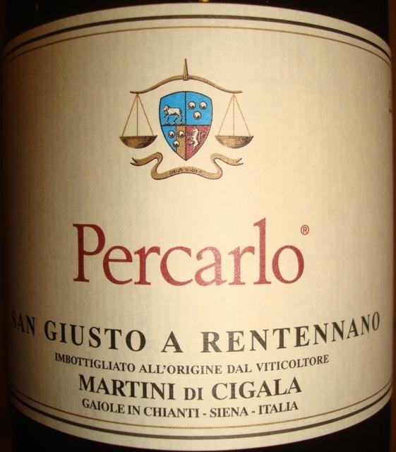 Percarlo San Giusto a Rentennano Martini Di Cigala 2001