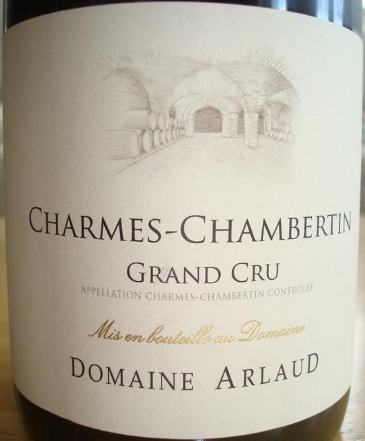 Charmes Chambertin Domaine Arlaud 2009