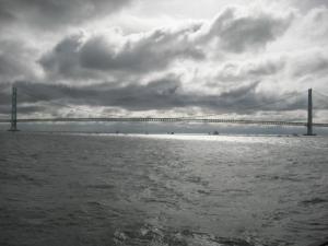 明石海峡大橋 真横