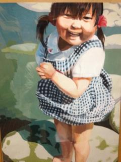 3歳の時の写真を見て描いた絵