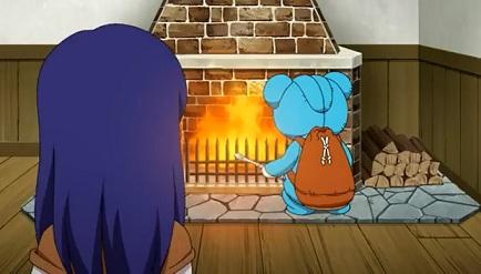 暖炉で何を?