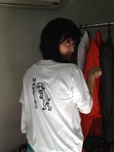負け犬Tシャツ着ちゃいました♪ 辻野加奈恵